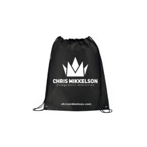 Non-Woven Drawstring Backpack (Black)